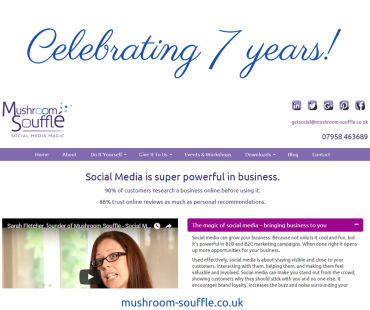 Celebrating seven years with a new website!