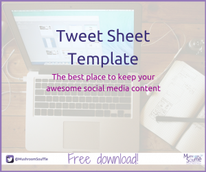 Free social media download - Tweet Sheet Template - Mushroom Souffle
