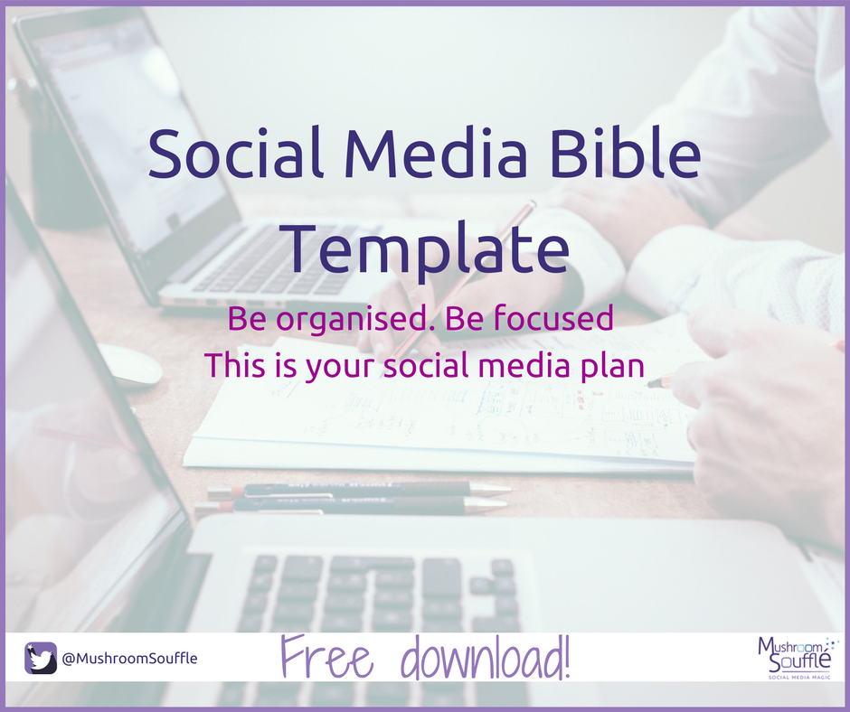 Social Media Bible Template - Mushroom Soufflé