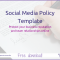 Social Media Policy Template - Mushroom Souffle Social Media Magic