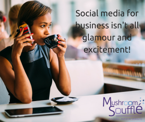 Social Media for Business is not all glamour and excitement!