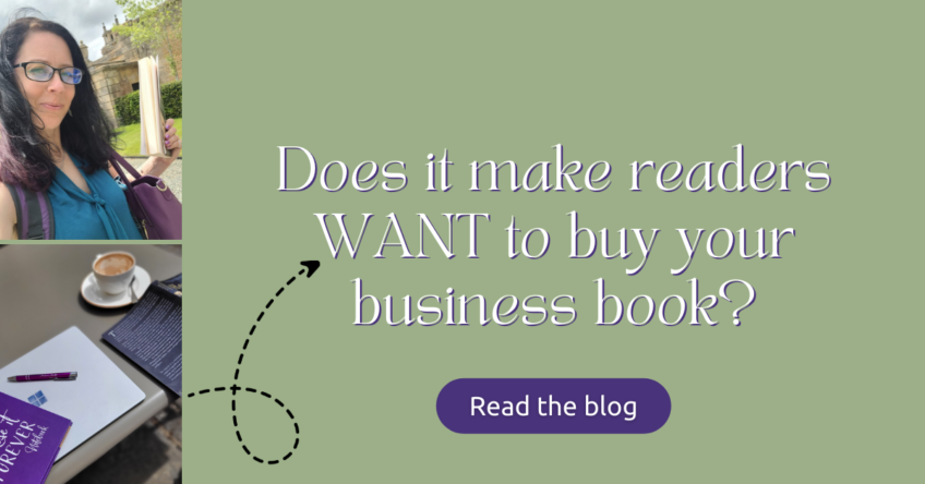 Does it make readers WANT to buy your business book?